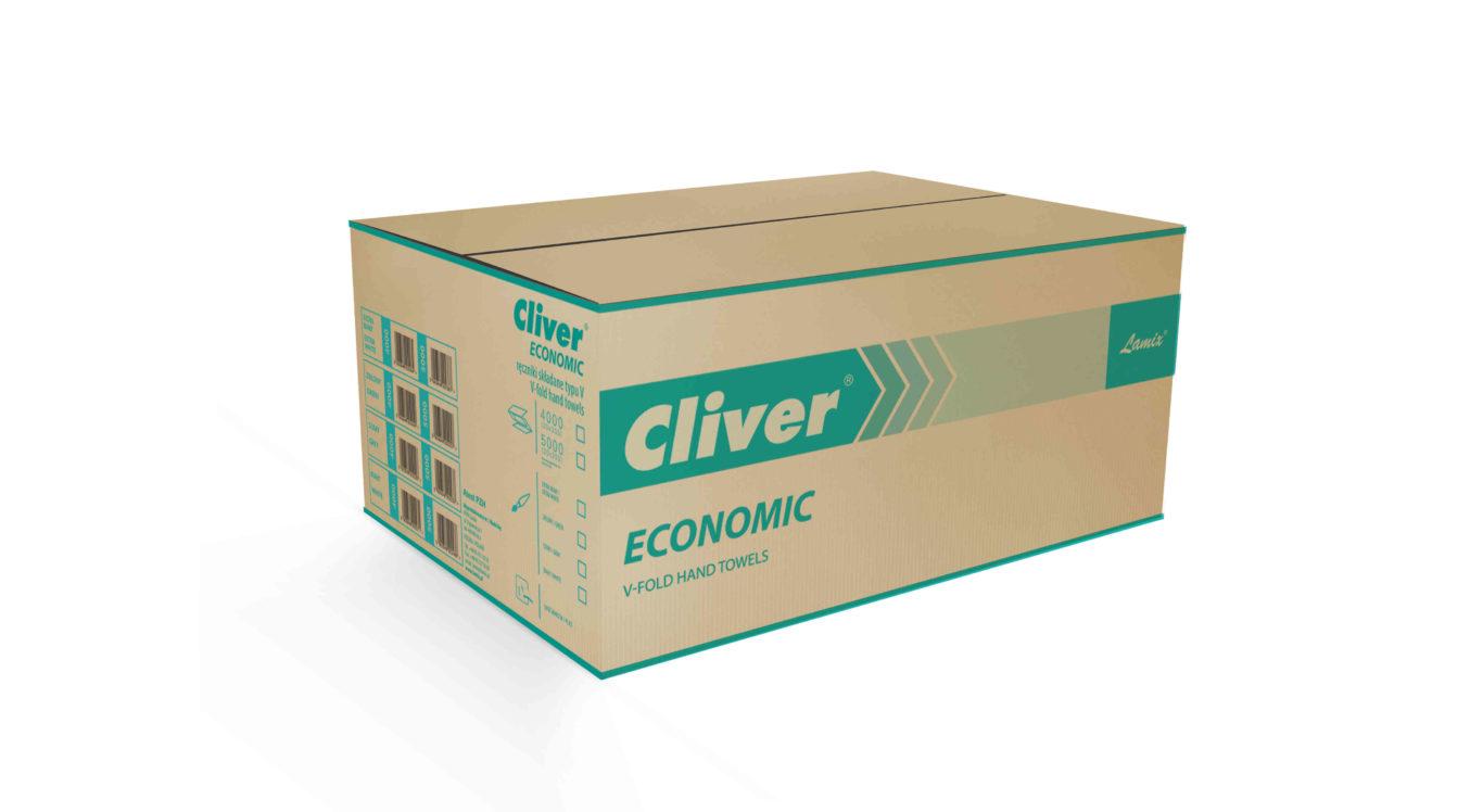 Ręczniki składane ZZ Lamix Cliver Economic białe 1w