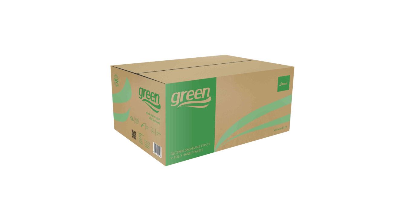 Ręczniki składane ZZ WELMAX SMART zielone 1w