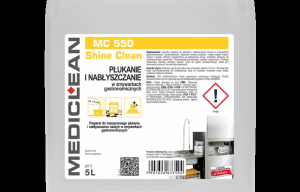 MC 550 Shine Clean – nabłyszczanie i płukanie w zmywarkach