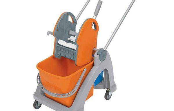 Wózek z tworzywa sztucznego 01.25. TS pomarańczowo-niebieski