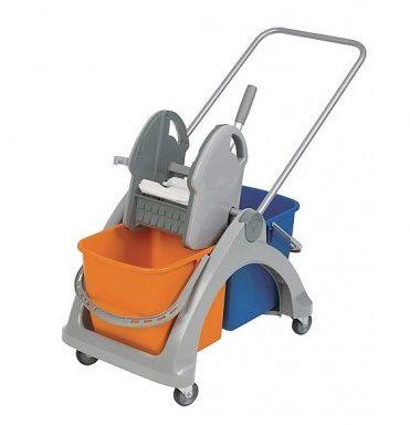 Wózek z tworzywa sztucznego 02.25. TS pomarańczowo-niebieski